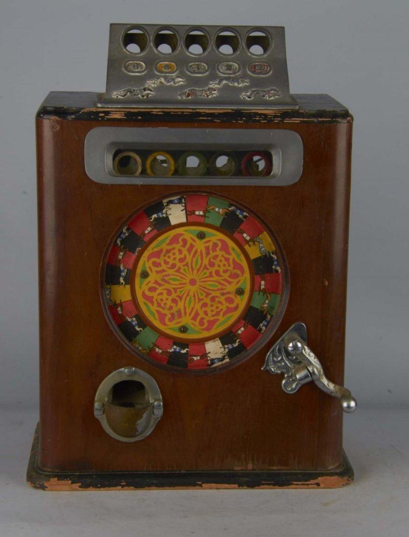 English Penny Greyhound Counter Wheel Machine - 3