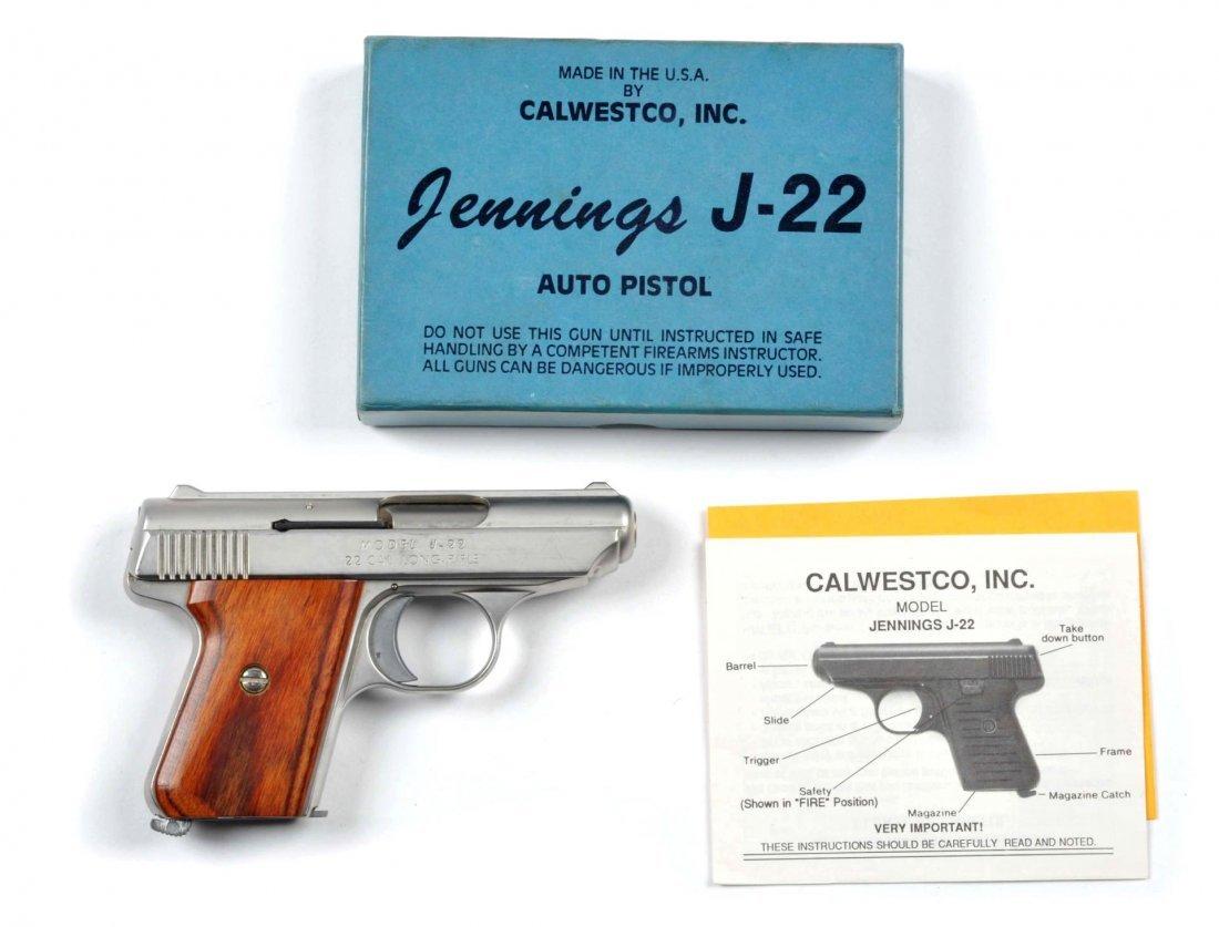 **Boxed Jennings .22 Semi-Automatic Pistol.