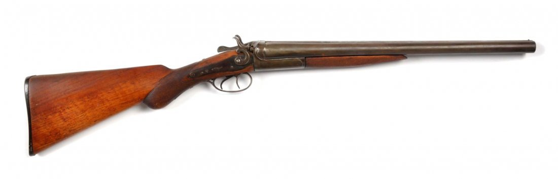 W. Richards Exposed Hammer Coach Gun.