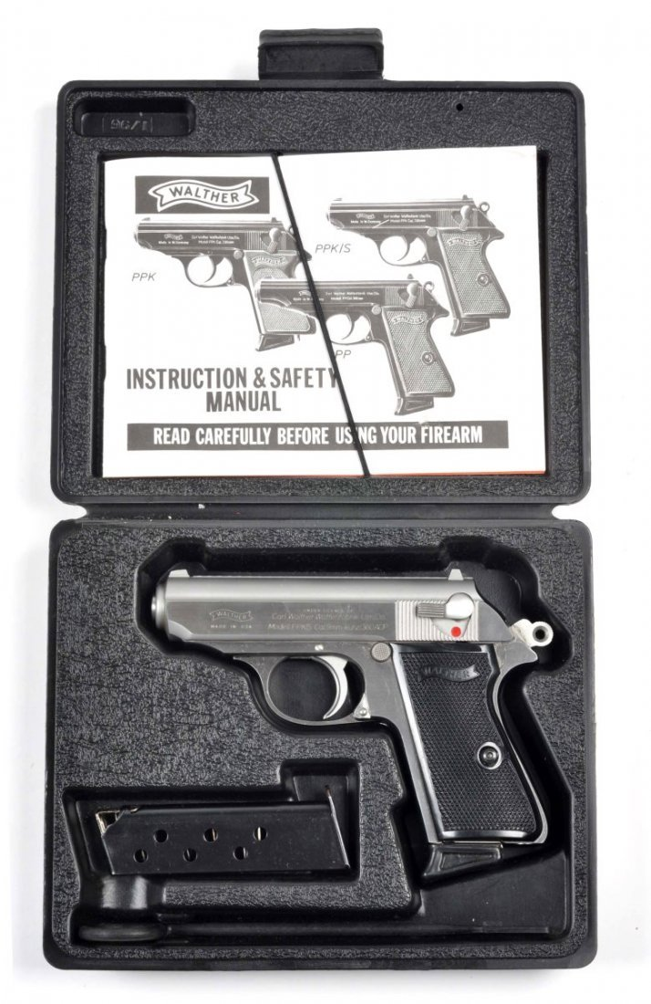 **MIB Stainless Walther PPK/S Semi-Auto Pistol.