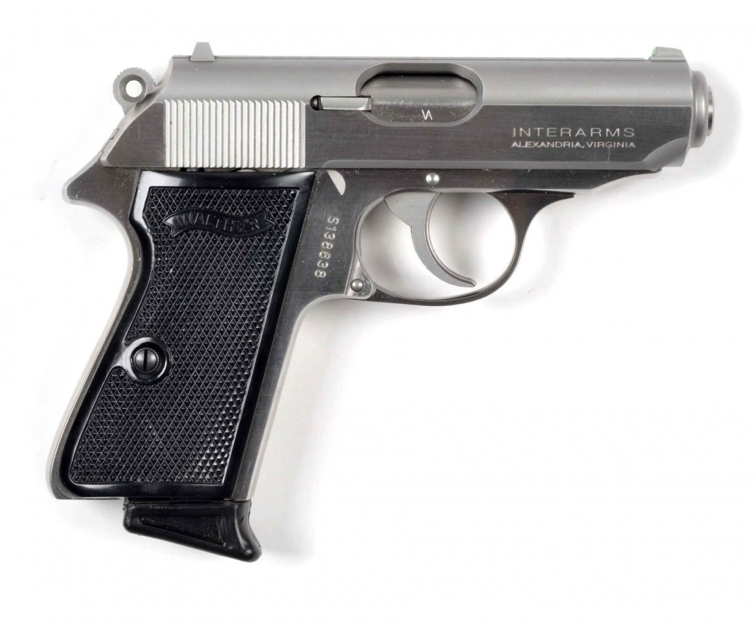**MIB Stainless Walther PPK/S Semi-Auto Pistol. - 5