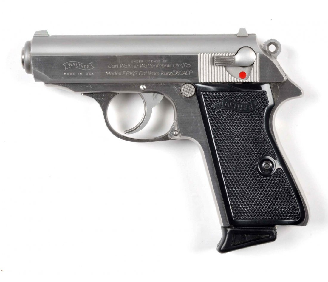 **MIB Stainless Walther PPK/S Semi-Auto Pistol. - 6