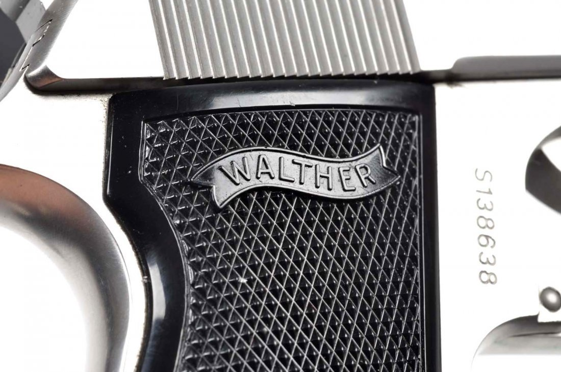 **MIB Stainless Walther PPK/S Semi-Auto Pistol. - 8