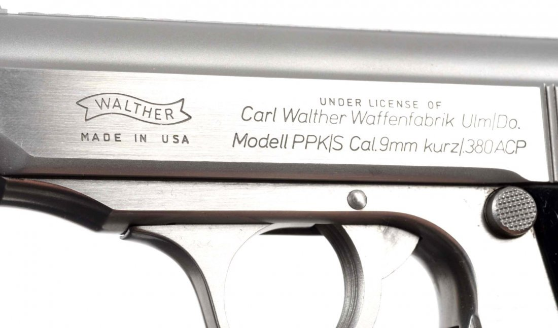 **MIB Stainless Walther PPK/S Semi-Auto Pistol. - 9