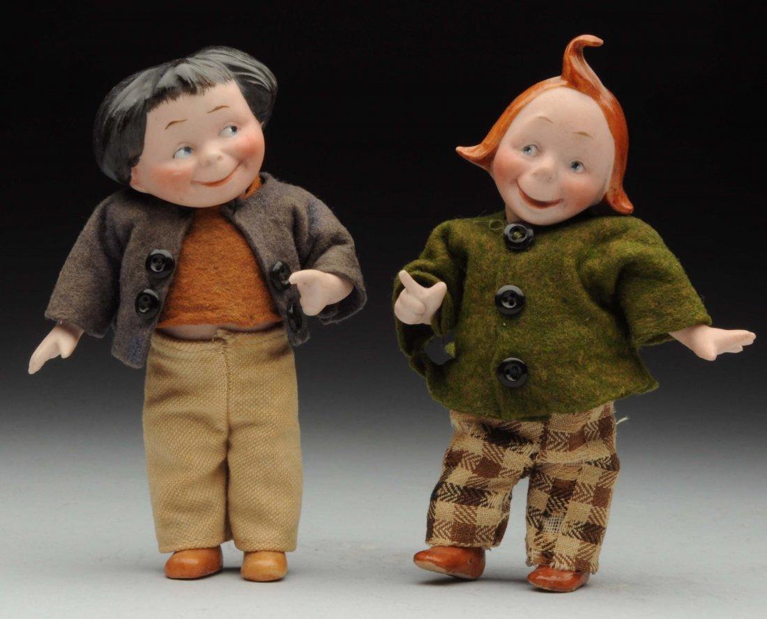 "Cheeky Kestner ""Max"" & ""Moritz"" Dolls."