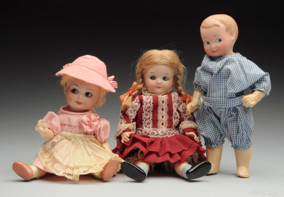 Lot Of 3: Googly Dolls.