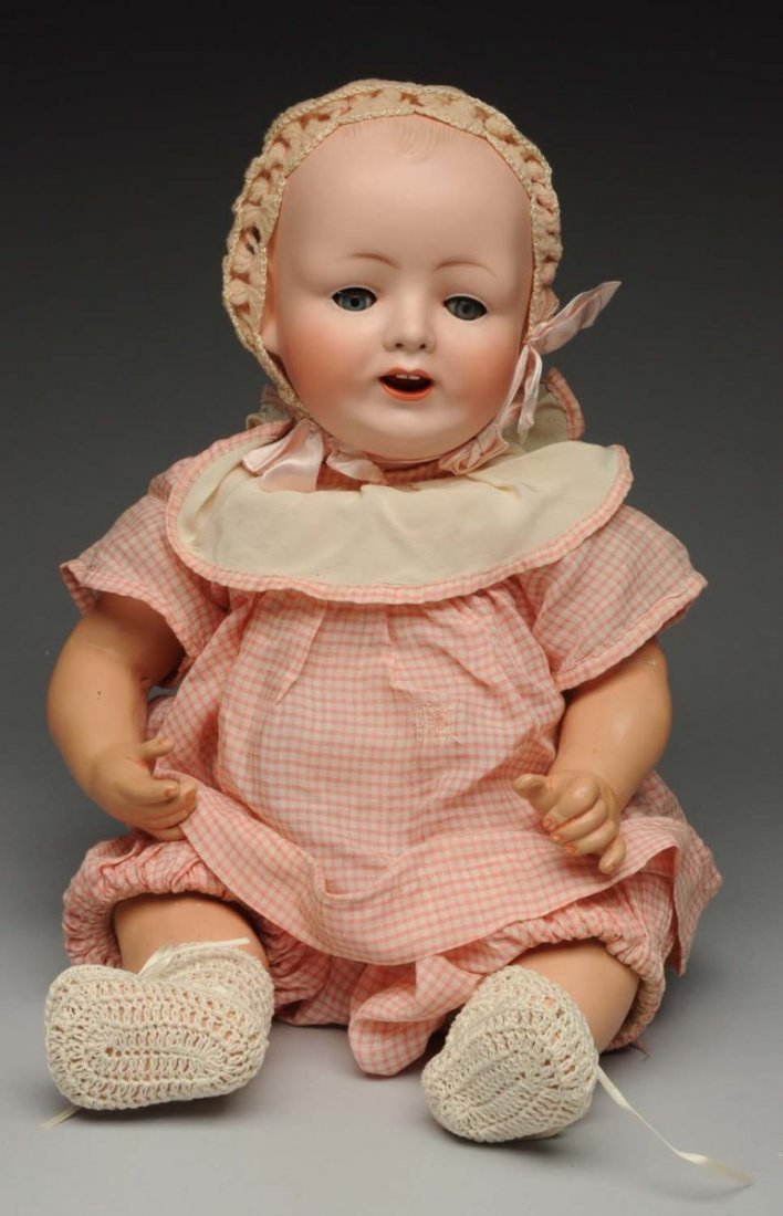 Smiling German Character Baby Doll.