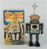 Japanese Tin Litho Television Spaceman