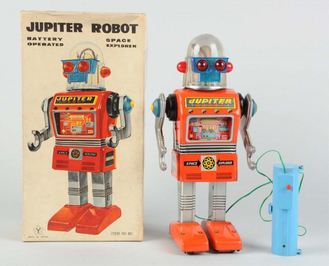 Japanese Rare Tin Litho Jupiter Robot.