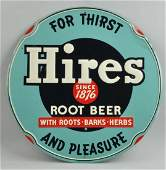 Hire's Root Beer Round Embossed Tin Sign.