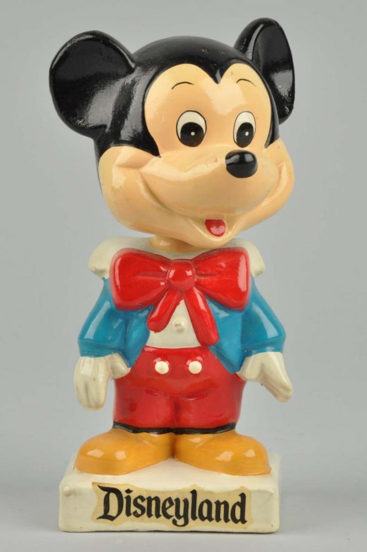 1960's Composition Mickey Mouse Bobble Head.