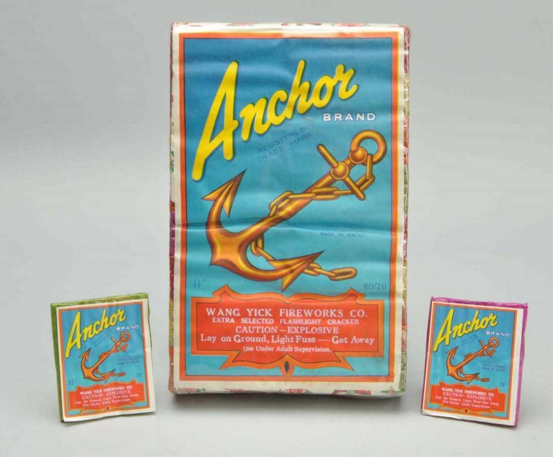 Lot of 3: Anchor Firecrackers.