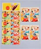 Lot Of 9: 1950s French Coca - Cola Blotters.