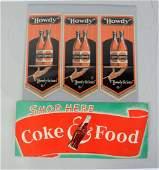 Lot Of 2 Soda Advertisements Items
