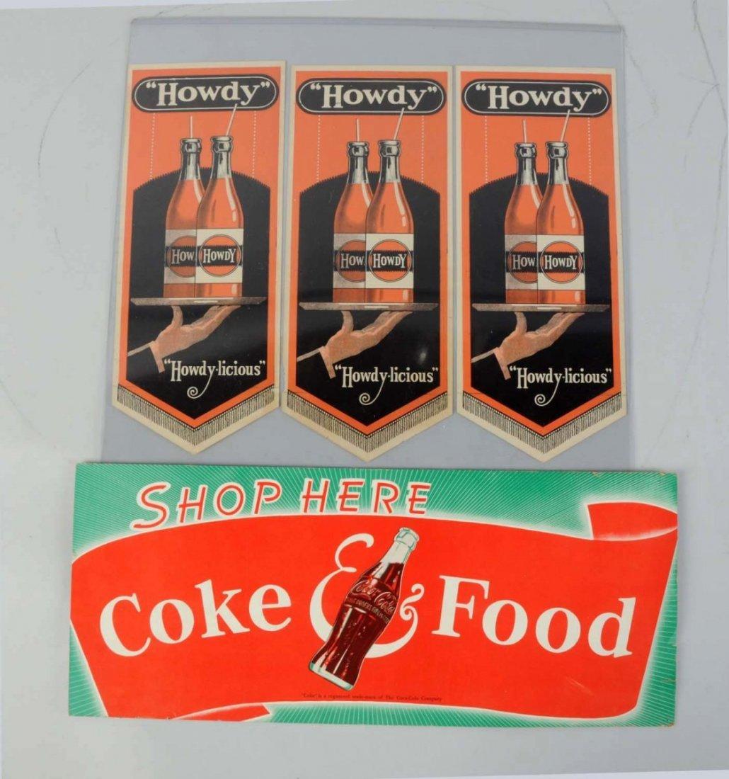 Lot Of 2: Soda Advertisements Items.