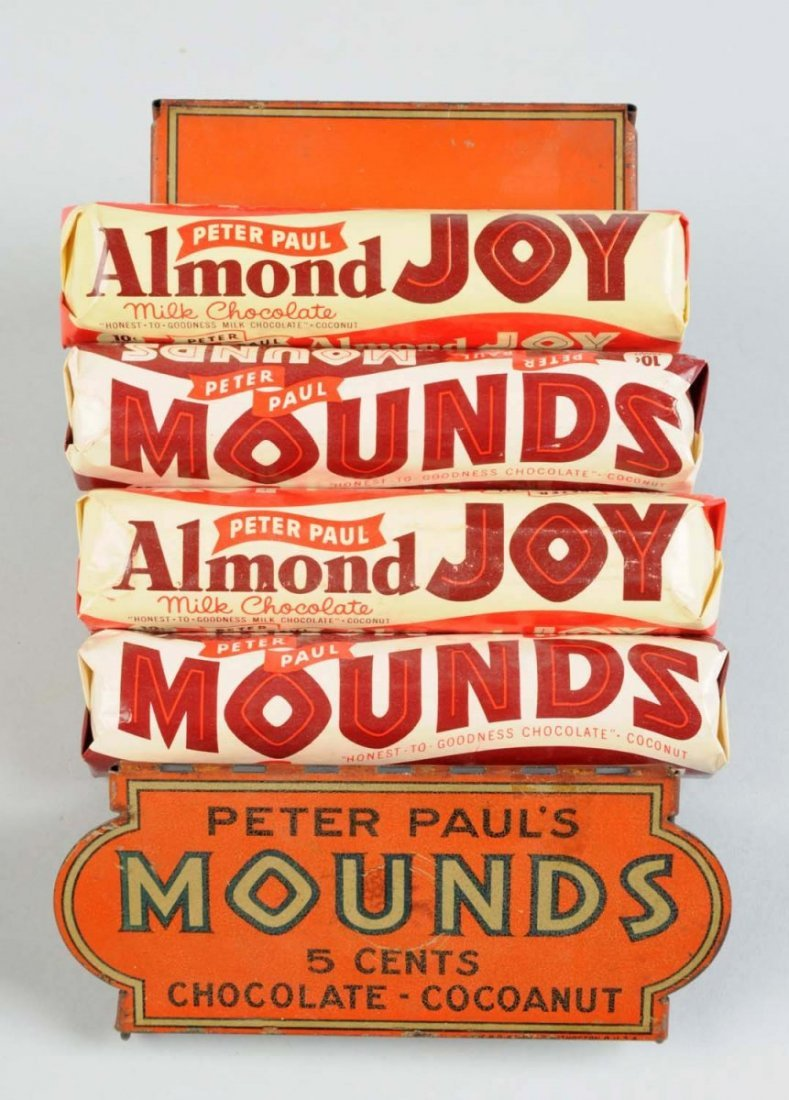 Mounds Candy Bar Tin Display Display Rack.