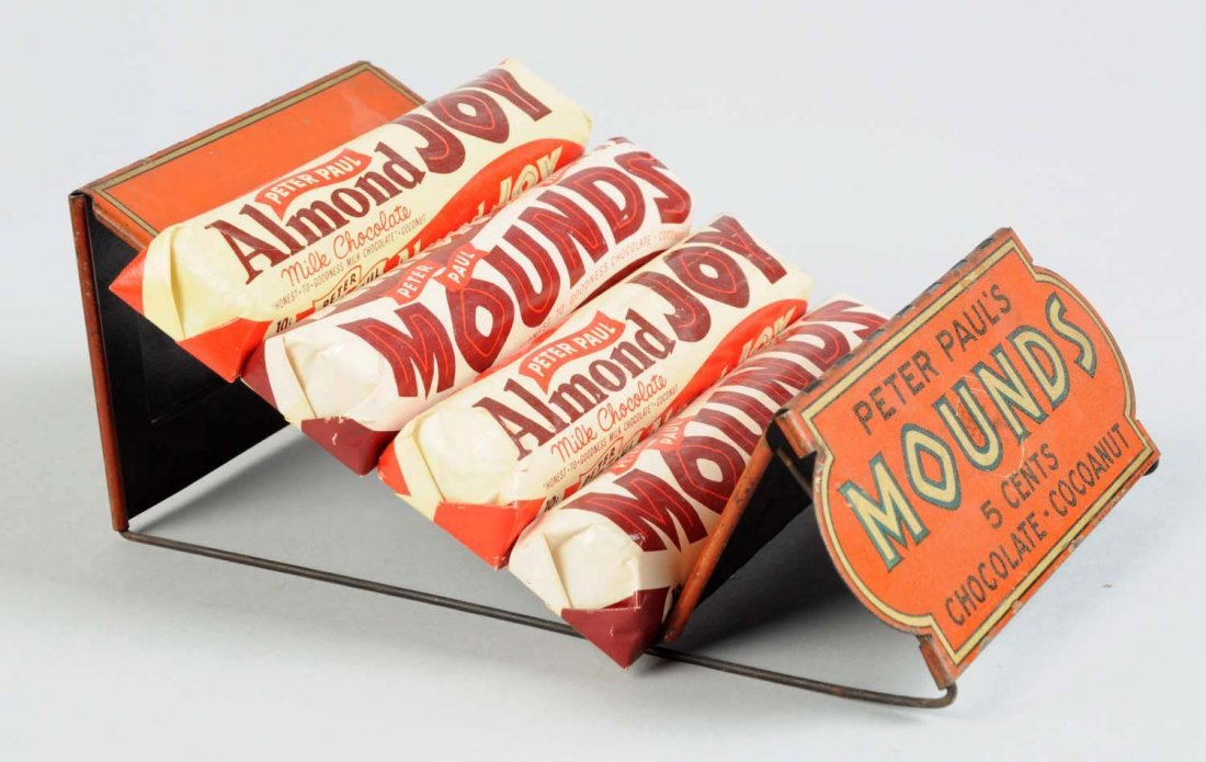 Mounds Candy Bar Tin Display Display Rack. - 2