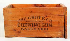 The Grove Co Chewing Gum Shipping Crate