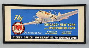 Early 1930s TWA Travel Office Sign