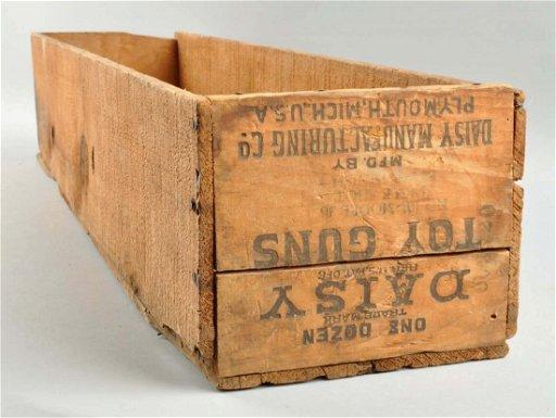 Daisy Bb Gun Wooden Shipping Crate