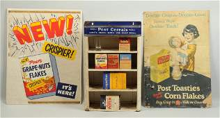 Lot Of 3 Post Cereal Advertising Items