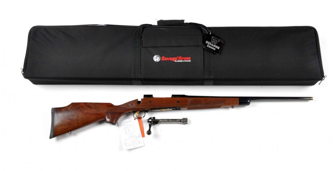 **Cased Savage Model 10 Bolt Action Rifle.