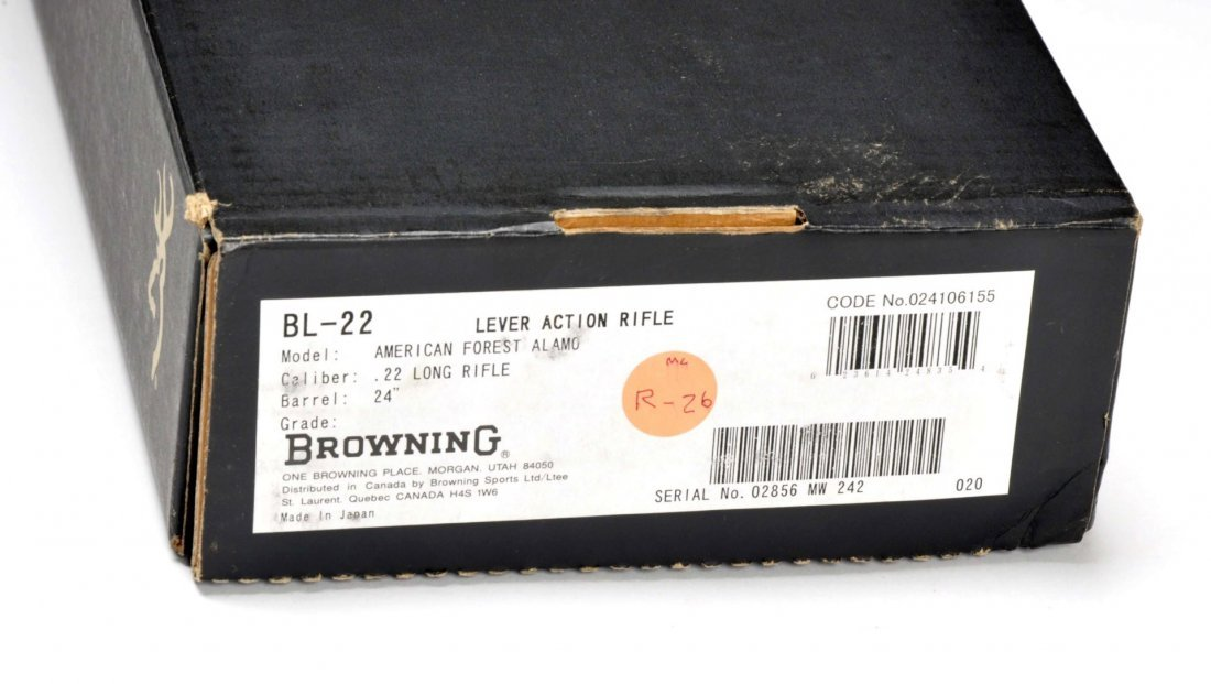 ** MIB Browning BL-.22 Lever Action Rifle (Alamo). - 8