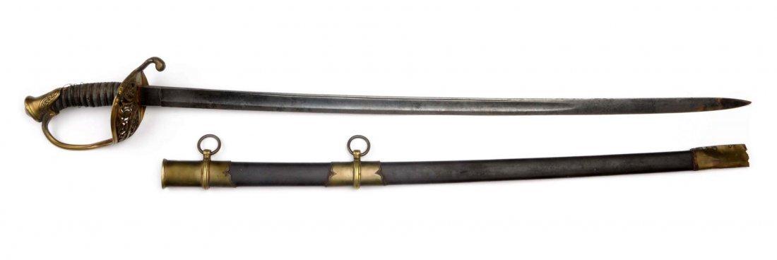 Non-Regulation Civil War Foot Officer's Sword.