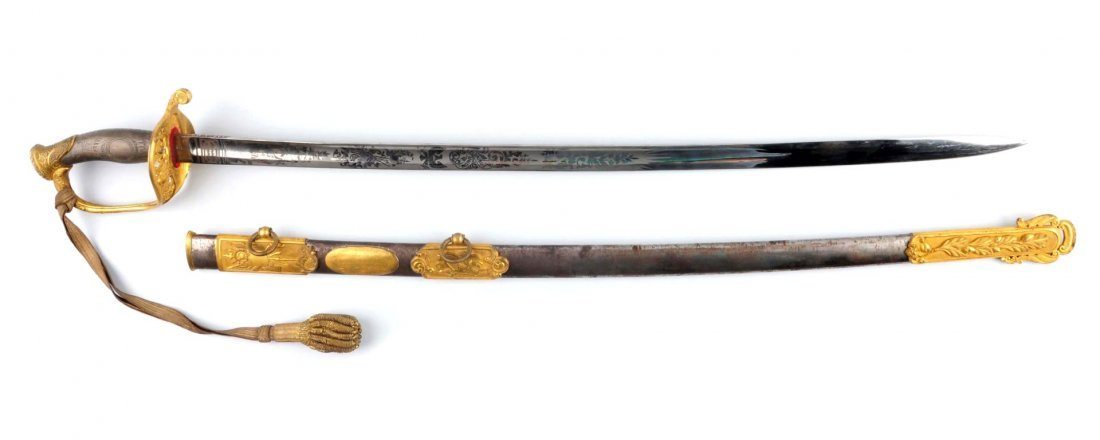 Civil War High Grade Pres. 1850 Officer's Sword. - 2
