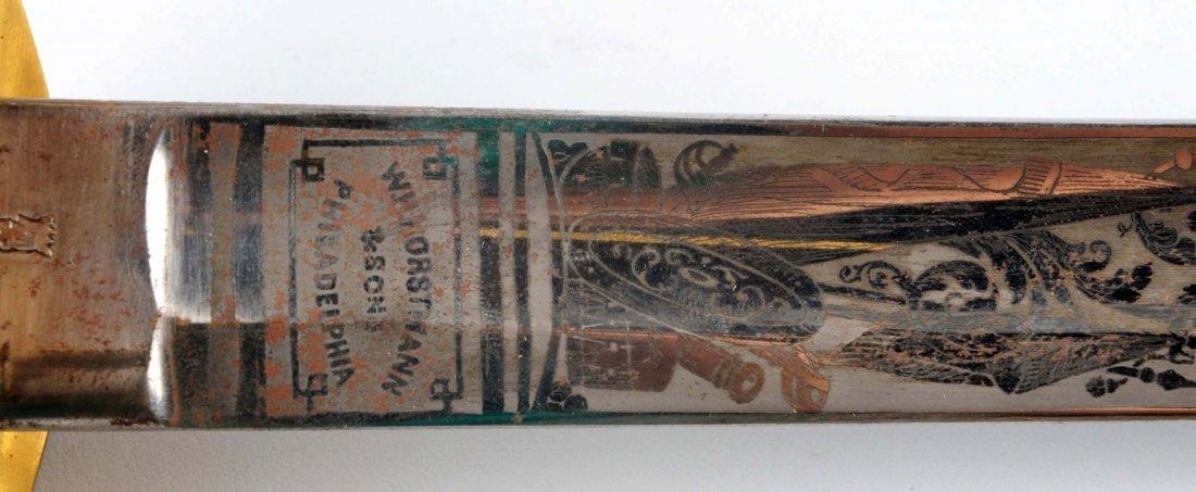 Civil War High Grade Pres. 1850 Officer's Sword. - 8