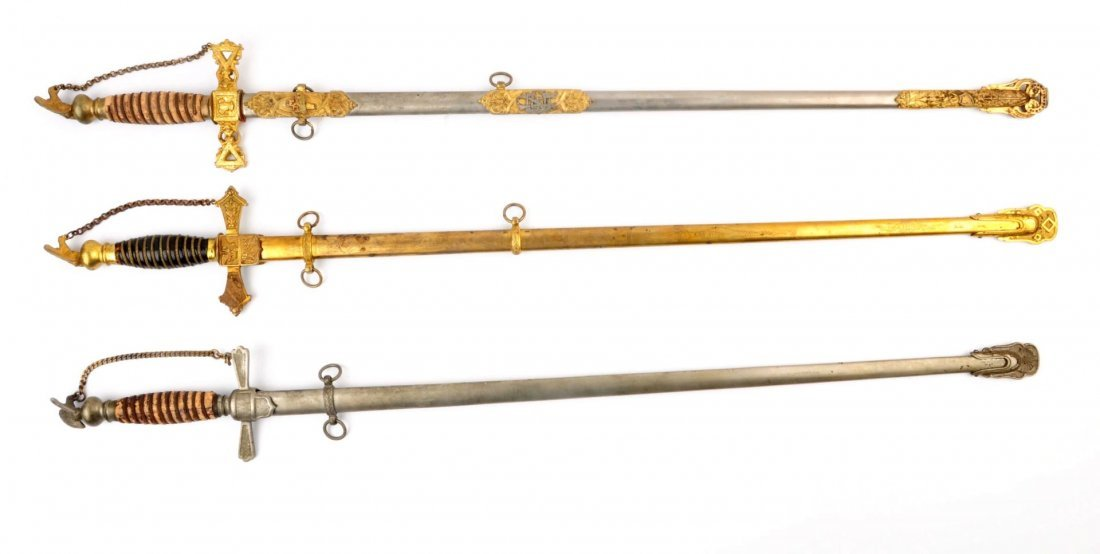 Lot Of 3: Fraternal Swords.