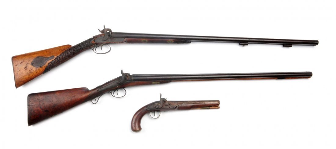 Lot Of 3: Early Percussion Firearms.