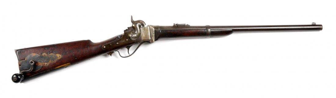 "Rare Sharps New Model 1859 ""Coffee Mill"" Carbine."