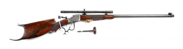 Winchester Pope Custom High Wall S.S. Rifle.