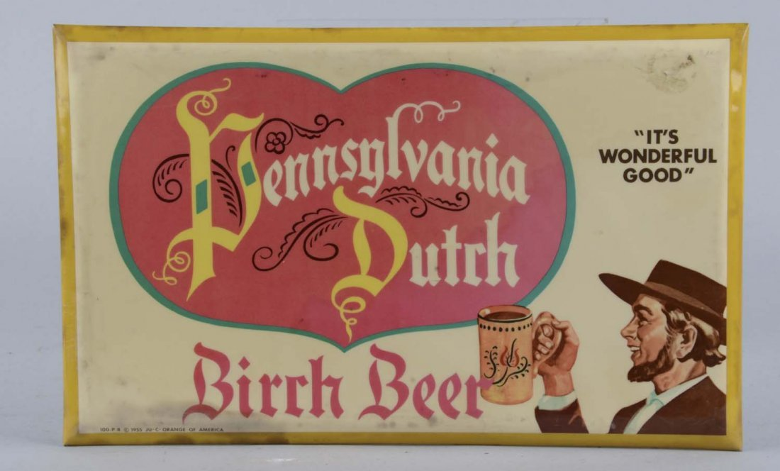 Pennsylvania Dutch Birch Beer Tin Sign