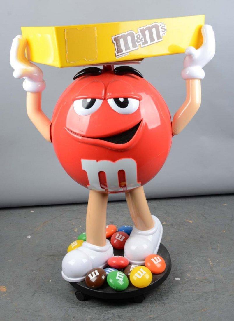 M&M Candy Figural Plastic Floor Display