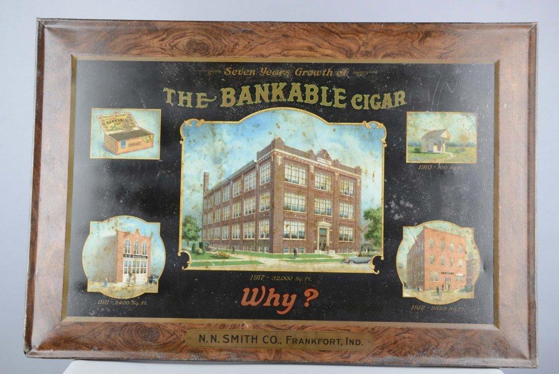 Bankable Cigar Self-Framed Tin Sign