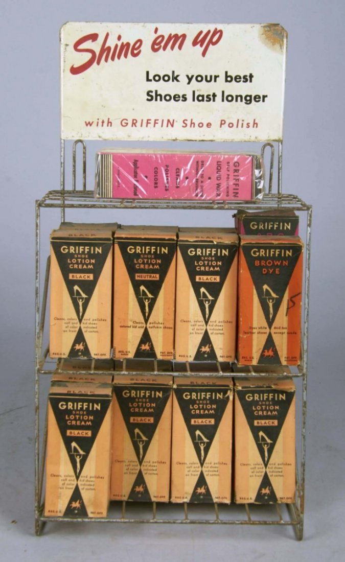 Griffin Shoe Polish Wire Countertop Display