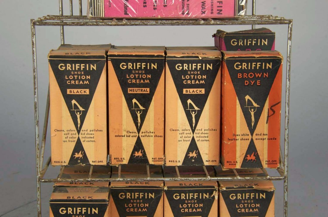 Griffin Shoe Polish Wire Countertop Display - 2