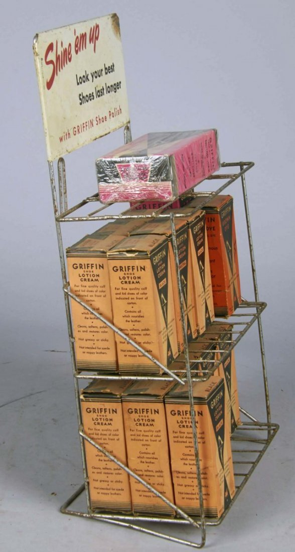 Griffin Shoe Polish Wire Countertop Display - 3