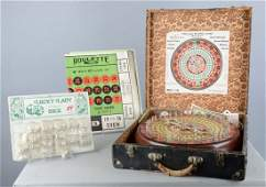 Lot Of 2: Dice Display And All-In-One Game
