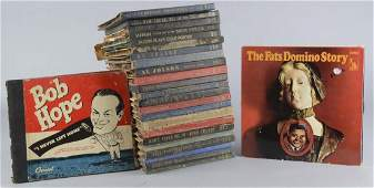 Box Lot of 78 rpm And 33 rpm Record Albums