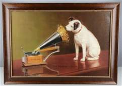 Victor His Master's Voice Nipper Painting