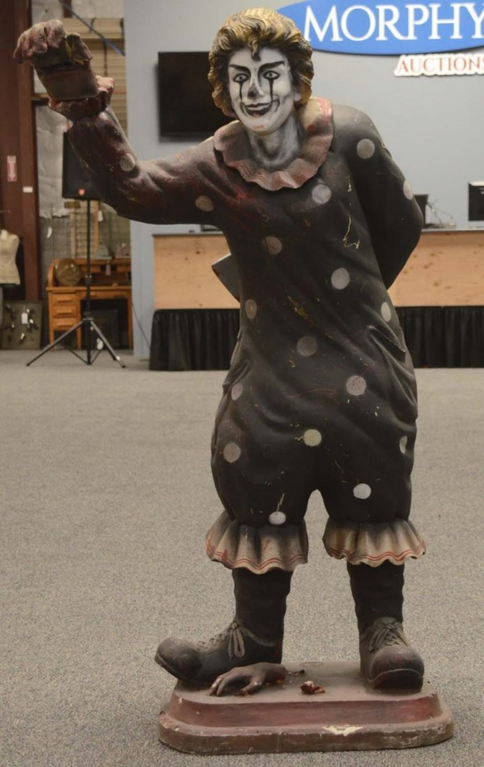 Tall Evil Scary Clown Statue