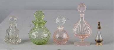 Lot of 5: Perfume Bottles