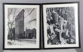Lot Of 2 Signed Black  White New York Photos