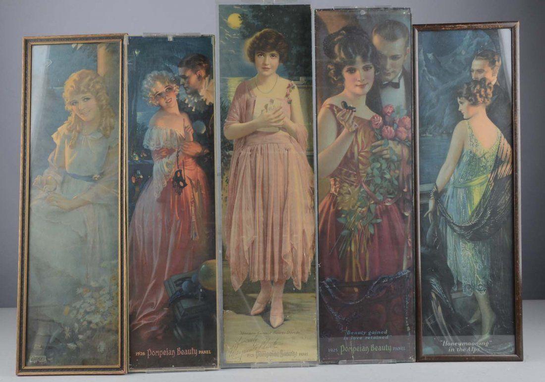 Lot Of 5: Gene Pressler Art Deco Lithographs
