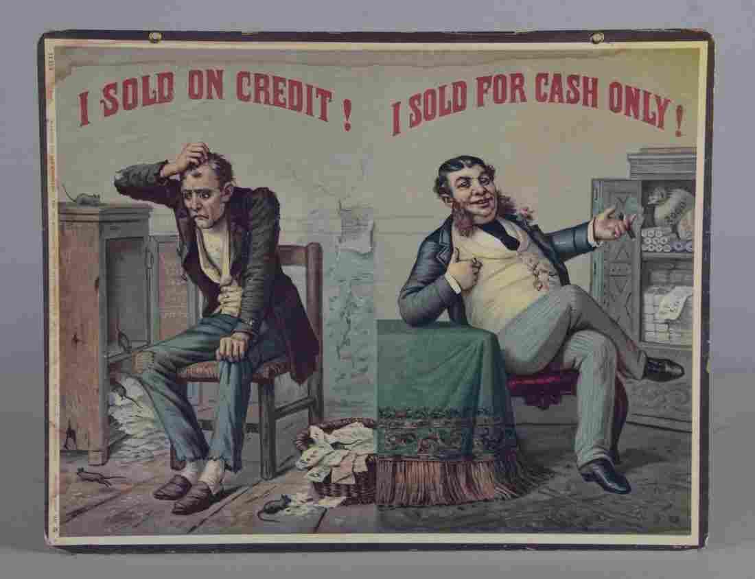 The Two Merchants Litho Advertisement