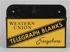 Western Union Telegraph Blanks Wall Box