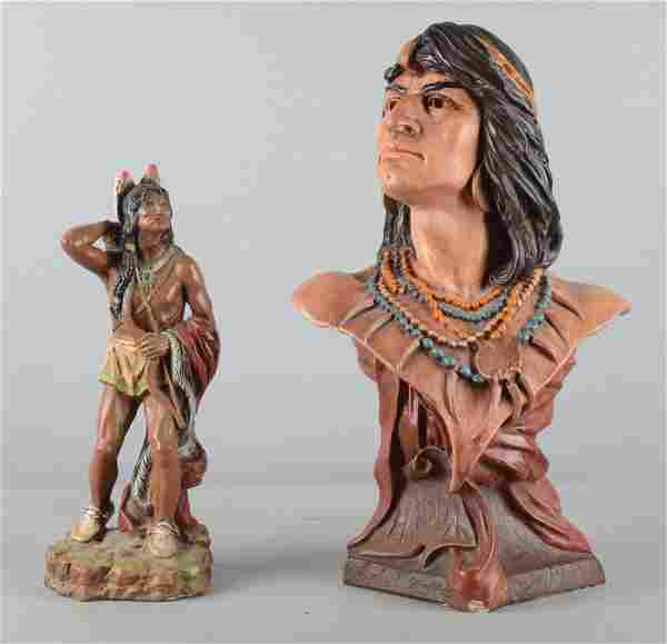 Lot Of 2: Native American Indian Sculptures